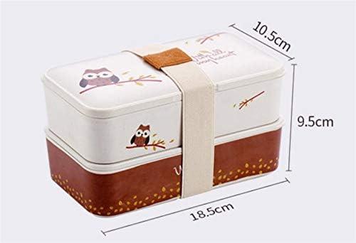 Mode Mode Mode mignon Boîte à lunch divisée portable à deux couches de style japonais B07L7M6MFT | Ingénieux Et Pratique  4ea8a3
