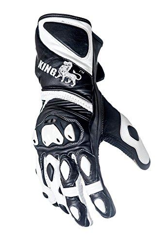 Schützen die King Astro Premium Leder Gauntlet Sport Biker Motorrad Handschuhe - xxxl Gauntlet Handschuhe Motorrad