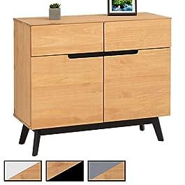 IDIMEX Buffet Tibor Style scandinave Design Vintage Nordique Commode bahut vaisselier avec 2 tiroirs et 2 Portes…