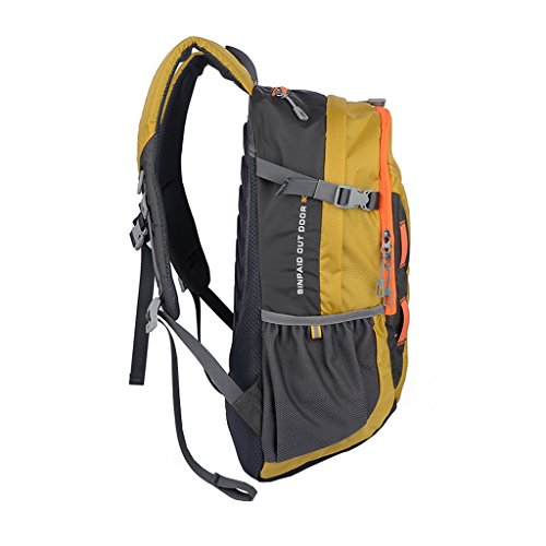 XSY 30L Zaino da Trekking Outdoor Donna e Uomo per Alpinismo Arrampicata Equitazione ad Alta Capacità borsa da Viaggio Multifunzione Blu Giallo