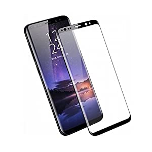 Remembrand Premium Black Coloured Tempered Glass for Samsung Galaxy S9 Plus| 0.3 mm, Oil Coated Tempered Glass Screen Protector only for : Samsung Galaxy S9+