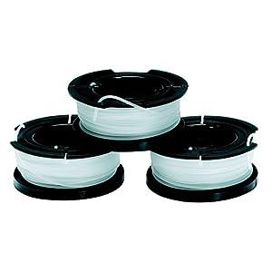 BLACK+DECKER A6485-XJ Kit 3 Rocchetti Filo Nylon Reflex,Accessori per tagliabordi, 3 x 10m di filo , 1.5mm spessore 41a63vjemBL. SS300