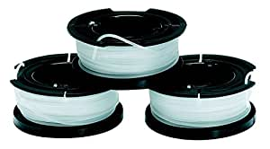 Black+Decker Fadenspulen für Trimmer 2 in 1 Pack (3x10m Länge á 1.5mm Fadendurchmesser) A6485
