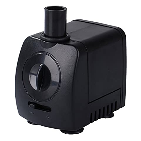 Maxesla Submersible Pump 120 GPH (550L/H) Fountain Water Pump For Pond/Aquarium/Fish Tank/ Statuary/Hydroponics with 4.92ft (1.5M) Power Cord
