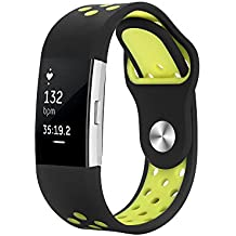 Fitbit Charge 2 Correa, Hanlesi Silica gel Soft Silicone Adjustable Fashion Replacement Sport Strap Band for Fitbit Charge 2 Smartwatch Heart Rate Fitness Wristband