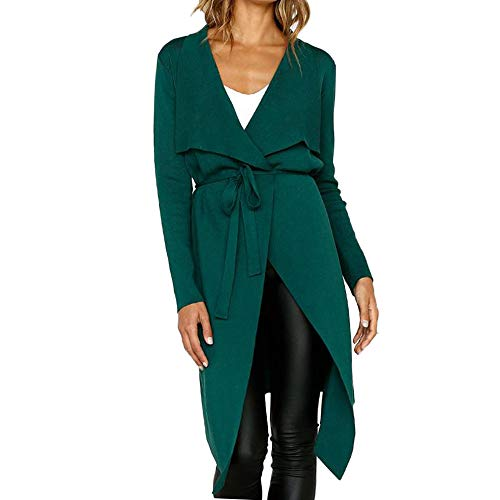 Preisvergleich Produktbild Sannysis Damen Herbst Winter Cardigan Lange Ärmel Pullover Langarm Leder Open Front Short Cardigan Anzug Jacke Solid Lang Mantel