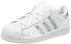adidas Superstar C, Scarpe da Fitness Unisex-Bambini, Bianco (Blanco 000), 35 EU
