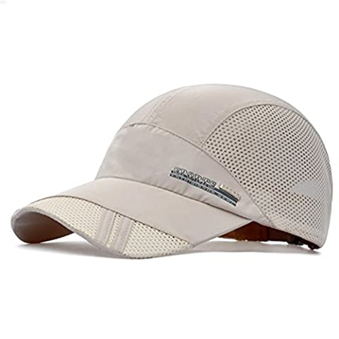 NYCOODNY Outdoor Riding Cap Quick Dry Sport Hat Lightweight Breathable Soft Camping Cap (Classic series, Beige)