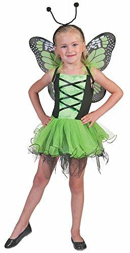 Pierro´s Kostüm Schmetterlingskind grün Märchen Mädchenkostüm Größe -
