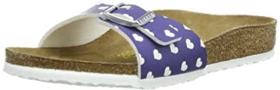Birkenstock Unisex-Child Madrid Birko Flor Fashion Sandals 024123 Heart White Blue 12 UK Child, 30 EU, Narrow