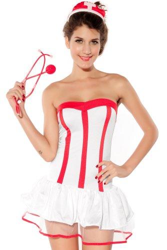 Damen Sexy Krankenschwester Henne 999er Ärzte Night Fun Krankenschwestern Kostüm