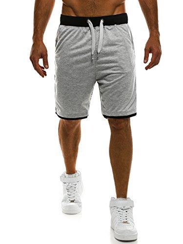 OZONEE Herren Hose Shorts Sportshorts Bermudas Knielang Jogg FreizeitShorts Sportshorts Kurzhose Sporthose Fitness STREET STAR 7111