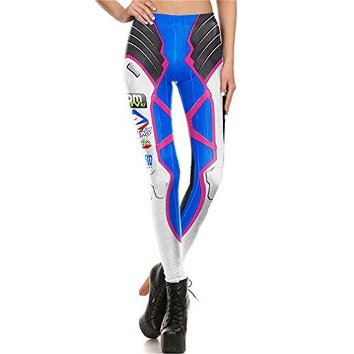 Frauen Leggins cosplay Leggins Leggings Hose gedruckt DVAleggings M