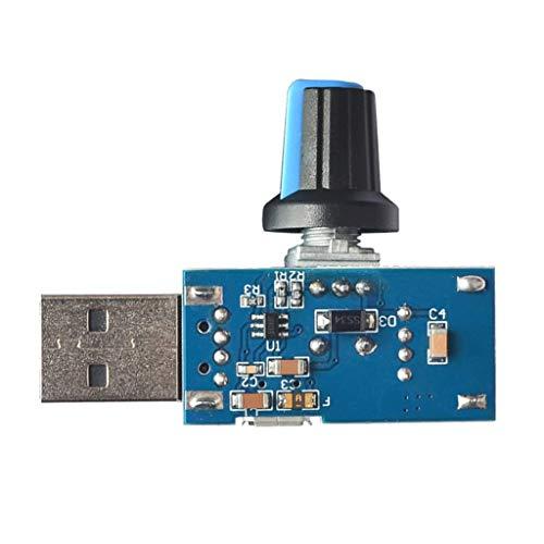 perfk Controlador de Velocidad Ventilador USB MUTE Accesorios Fácil de Contectado Herramineta...