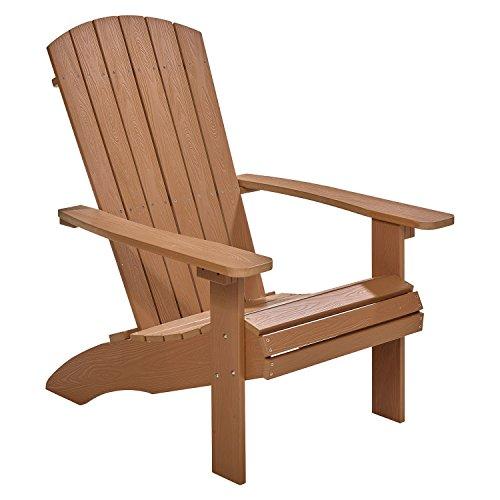 NEG Design Adirondack Stuhl MARCY (naturbraun) Westport-Chair/Sessel aus Polywood-Kunststoff (Holzoptik, wetterfest, UV- und farbbeständig)