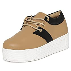 1 WALK MAPPLE COLLECTION ORIGINAL COMFORTABLE STYLISH WOMEN SHOES /SNEAKERS/COLLEGE WEAR/2018 LATEST COLLECTION/PARTY WEAR/CASUAL WEAR/WEEDING WEAR-Beige-M50B-38