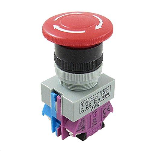 * SODIAL es una marca registrada. Solo el vendedor autorizado de SODIAL puede vender los productos de SODIAL. Nuestros productos va a mejorar su experiencia de la inspiracion sin igual. SODIAL(R)AC 600V 10A Rojo Interruptor de boton pulsador de parad...