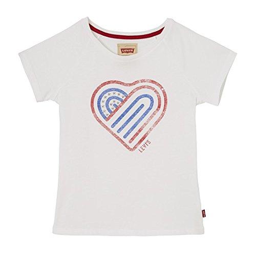 Levi's ss tee samm, t-shirt bambina, bianco (white 01), 4 anni (taglia produttore: 4a)