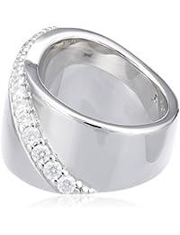 Esprit Damen-Ring 925 Sterling Silber rhodiniert Zirkonia Phanes ELRG92408A1