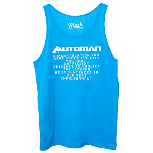 Canotta AUTOMAN 80'S SERIE TV GAMES - FILM by Mush Dress Your Style Blu Royal