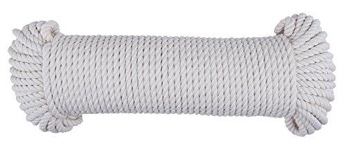 CON:P Baumwollschnur 5 mm x 50 m, UV-beständig, 1 Stück, naturweiß, B34181