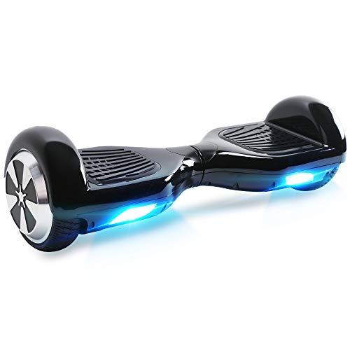 """BEBK Hoverboard, 6.5\"""" Self Balance Scooter mit 2 * 250W Motor, LED Lights Elektro Scooter (Black)"""