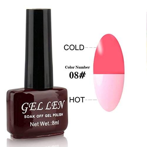 Gellen aufloesbarer Gel Nagellack UV Farbgel Thermo Nagellack Farbwechsel 8ml Farbe 08