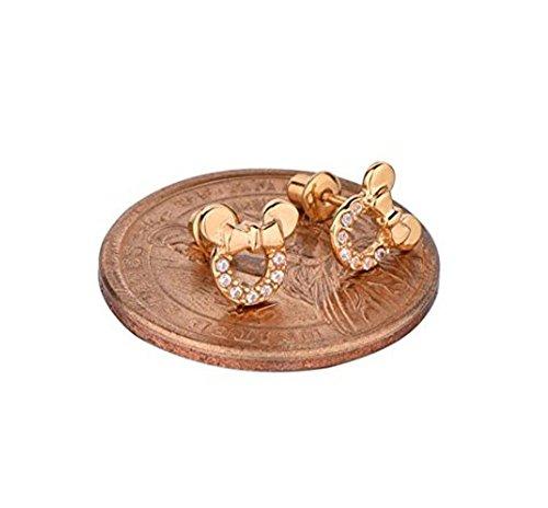 13b46ee6b0bd Pendientes de plata de ley en color rosa oro de circonitas cúbicas de  Findout ...