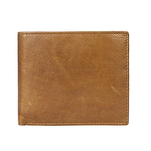 Zhhlinyuan dauerhaft Mens Women Soft Slim Folding First Cowhide Leather Folding Credit Card Coin Purse Money Wallet with ID - Card Wallet Slim-credit Womens