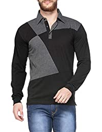 V3Squared Men's Cotton Full Sleeve Polo T-Shirt.