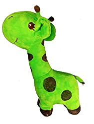 A-Mart soft toy giraffe green for kids girls 9 inch