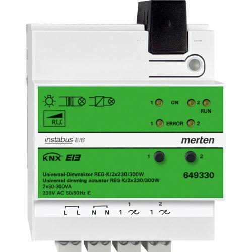 Preisvergleich Produktbild Merten 649330 Universal-Dimmaktor REG-K/2x230/300 W, lichtgrau