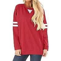 Hanomes Damen Streifen Patchwork Langarm Sweatshirt Pullover Casual Sweatshirt Rundhalsausschnitt LangarmTShirt... preisvergleich bei billige-tabletten.eu