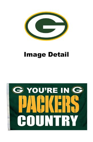 LA Auto Gear Green Bay Packers NFL Team Logo House Home Office Garage Street Outdoor Innen-Flagge Banner mit Tüllen - 3 'x 5' - You 're in Packers Land (Land Flagge Banner)