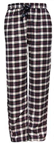 MG-1 warme Herren FLANELL Pyjamahose Schlafanzug Hose, Homewear kariert Farbwahl DESIGN 04