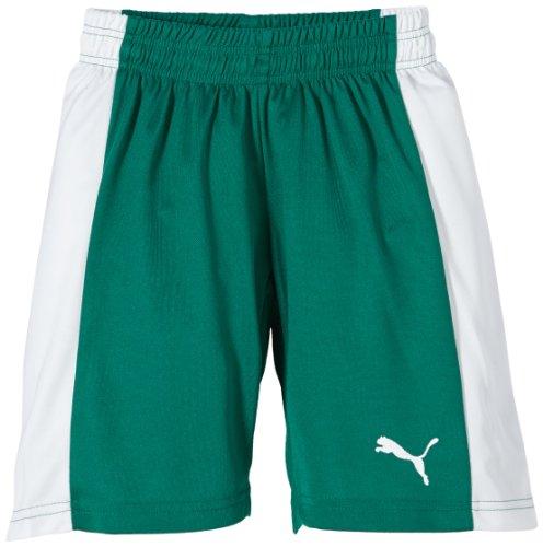 PUMA Kinder Hose Powercat 5.12 Shorts with Inner Slip, Team Green/White, 140, 701266 05