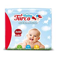 Baby Turco Islak Havlu Mendil 12'li Paket, 2160 Yaprak, Plastik Kapaklı