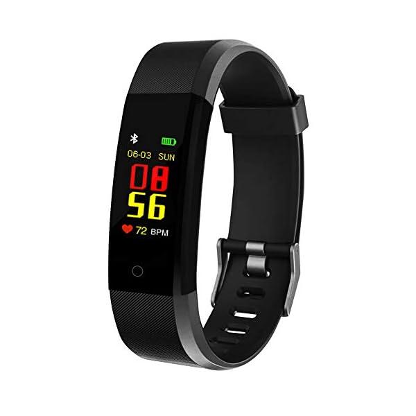 MENGZHEN 1 UNID ID115 Plus Monitor de Actividad del Ritmo cardíaco Pantalla táctil Usable Podómetro Bluetooth Pulsera Inteligente con Monitor de sueño 1