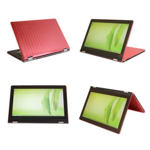 mCover Hartschalen-Hülle / Tasche / Schutzhülle für Lenovo Lenovo Yoga 2 Pro 33.8 (13,3 Zoll) Convertible Ultrabook - Rot (**Nicht kompatibel mit Lenovo Yoga-2 13,3 Zoll und 13,3 Zoll Ideapad Yoga**)