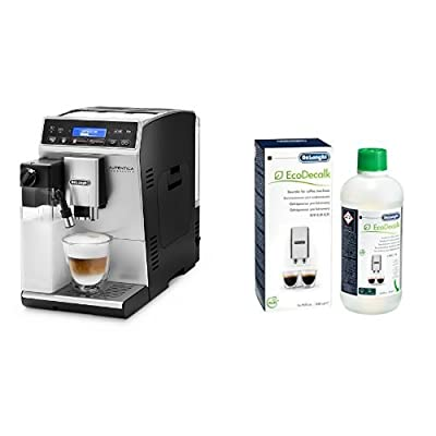 De'Longhi Etam 29.660SB Bean to Cup Coffee Machine & DELONGHI DESCALER ECODECALK DLSC500 Bottle 500ml (Pack of 1)