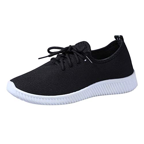 BaZhaHei Womens Trainers Athletic Walk Gym Shoes Breathable Fashion Sneakers Lace up Running Shoes Comfortable Platform Loafers Wedge Shoes Size 2.5 7