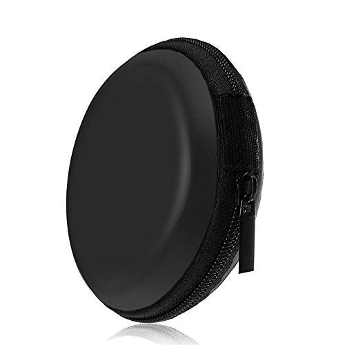 Ciaoed Kopfhörer Tasche Case on Ear Schutztasche EVA Reißverschluss Mini Runden Tragetasche Schwarz - 7
