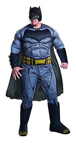Batman v Superman Costume, Mens Deluxe Batman Plus Outfit, Plus size, CHEST 46 - 52