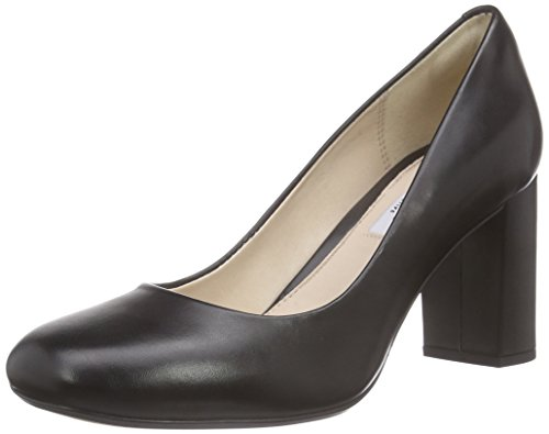 Clarks Gabriel Mist, Escarpins Femme, Beige, Various Noir (Black Leather)