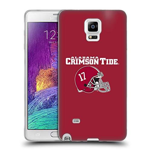 Head Case Designs Offizielle University of Alabama UA Helm Logo Typ Soft Gel Huelle kompatibel mit Samsung Galaxy Note 4