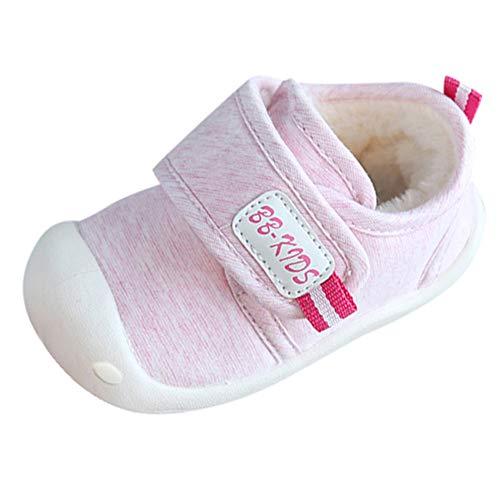 (Beikoard Kinder Kleinkind Schuhe Baby-Baumwollschuhe Plus Samtschuhe Innen warme Schuhe für Männer und Frauen Erste warme flaumige Wanderer)