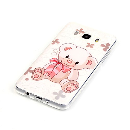 "Coque Silicone Gel pour Apple iPhone 6/6S 4.7"" - Aohro Ultra Mince et Ultra Léger Transparent Cristal Clair Gel TPU Étui Housse Skin Case Cover + Stylet - Bear Bear"