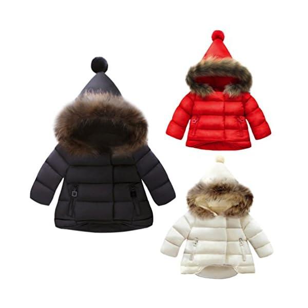 Amlaiworld Ropa Bebé Otoño Invierno, Bebé niñas niños Abajo Chaqueta Abrigo Ropa de Abrigo 6 Mes - 5 Años 2