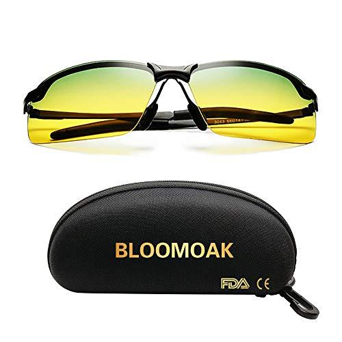 Sonnenbrille fahren | nachtbrille zum autofahren | Blendschutz Sonnenbrille fahren | HD Halbrand / Polarisiert / Ultra Light Metall | sonnenbrille damen Männer