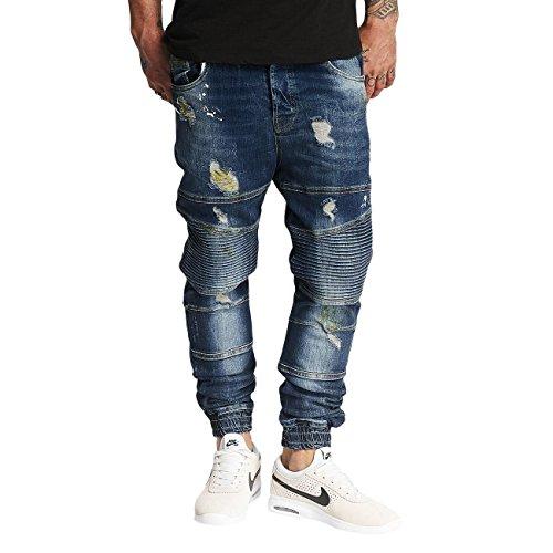 VSCT Clubwear Herren Jeans / Antifit Noah Biker Blau